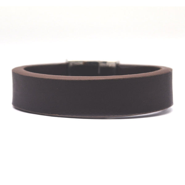 STEEL  LEATHER BRACELET | STB404 - Zawadis.com