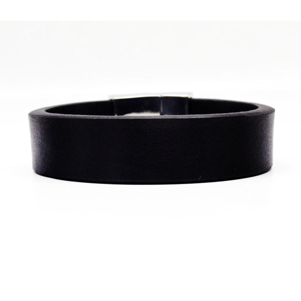 STEEL  LEATHER BRACELET | STB407 - Zawadis.com