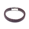 STEEL  LEATHER BRACELET | STB456 - Zawadis.com
