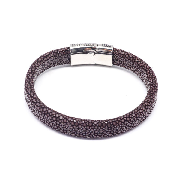 STEEL  LEATHER BRACELET | STB455 - Zawadis.com