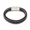 STEEL  LEATHER BRACELET | STB429 - Zawadis.com