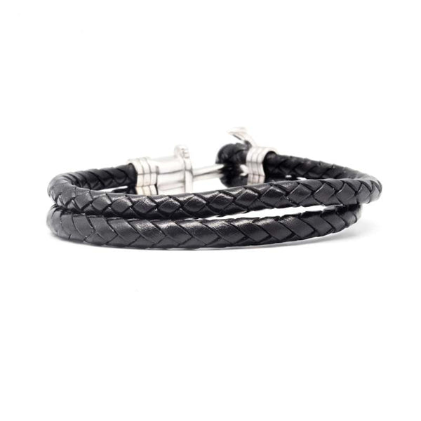 STEEL  LEATHER BRACELET | STB468 - Zawadis.com