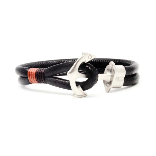 STEEL  LEATHER BRACELET | STB470 - Zawadis.com