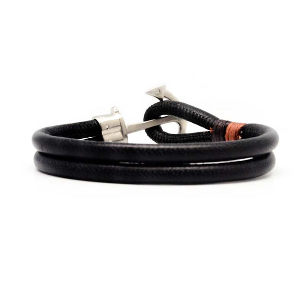STEEL  LEATHER BRACELET | STB471 - Zawadis.com