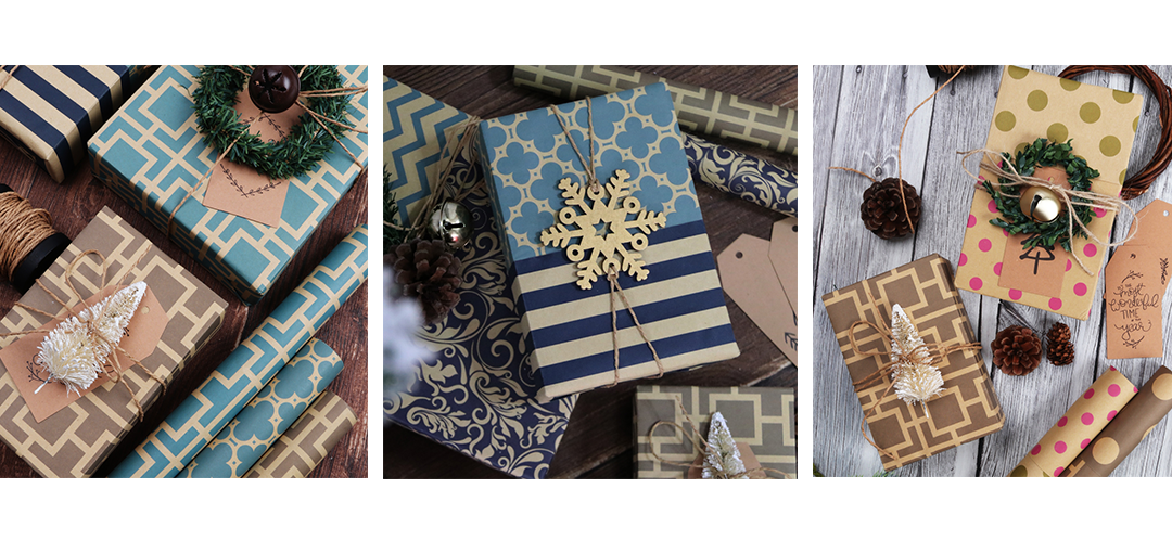 kraft wrapping paper examples