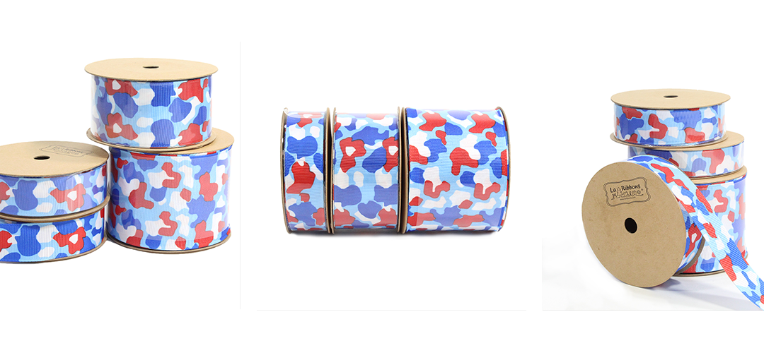 Patriotic camouflage ribbon collection