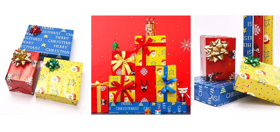christmas themed wrapping paper styles