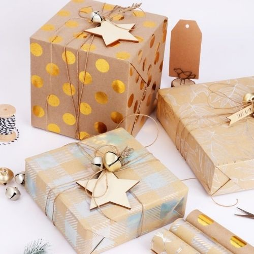Easy and Creative Kraft Paper Gift-Wrapping Ideas