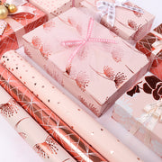 "Rose Gold Foil ""Dandelion"" Wrapping Paper Roll"