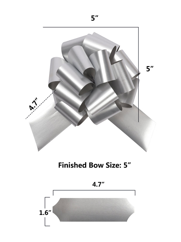 "5"" Pull Bow Bundle - 6 Pieces"
