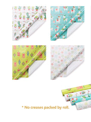 Cactus theme gift wrapping paper rolls