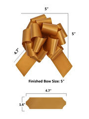 Matte gold gift bow dimensions
