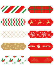 "5"" Christmas Pull Bows Bundle - 10 Pieces"