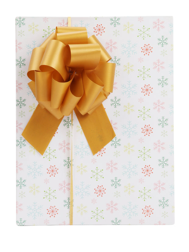"Gold Christmas 12pc 5"" Pull Bows Bundle"