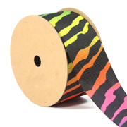 1 1/2 inch rainbow zebra grosgrain ribbon