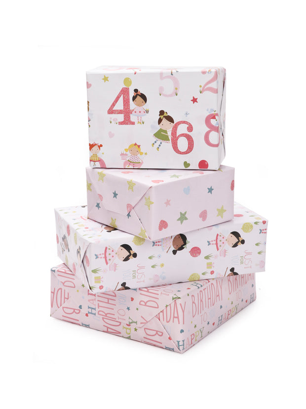 "LaRibbons ""Birthday Girl"" Glitter Gift Wrap Bundle"