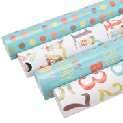 Happy birthday wrapping paper collection