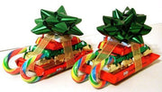 "2"" Christmas Star Gift Bow Bundle - Green/Red/White/Gold - 72 pcs"