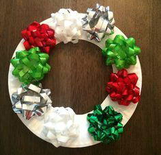 "White/Red 72 pcs 2"" Gift Bow Bundle"