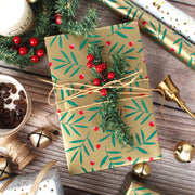 Traditional Christmas Wrapping Paper - 3 Roll Pack