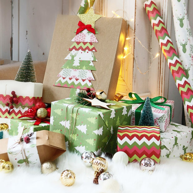 Christmas theme wrapped gifts