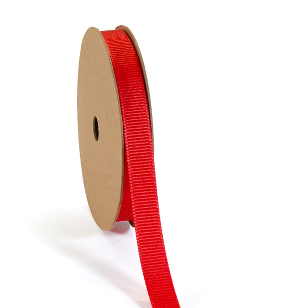 "3/8"" - 7/8"" Wholesale Premium Textured Grosgrain Ribbon - Red Collection"