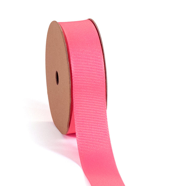 "3/8 - 7/8"" Premium Textured Grosgrain Ribbon - Pink Collection"