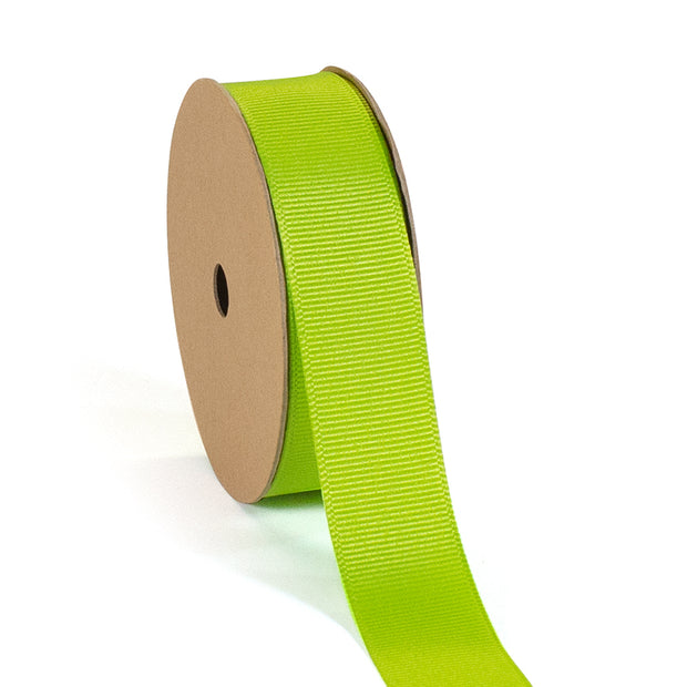"3/8"" - 7/8"" Wholesale Premium Textured Grosgrain Ribbon - Green Collection"