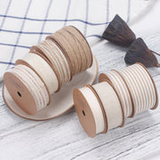38mm Natural/White Jute Striped Ribbon