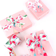 "50mm White/Multi ""Flamingo & Watermelon"" Printed Satin Ribbon"