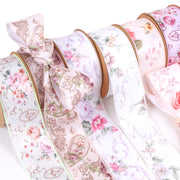 40mm Lilac/Multi Victorian Floral Ribbon
