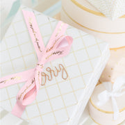 "3mm Ivory/Black ""Always Dress Like..."" Printed Satin Ribbon"