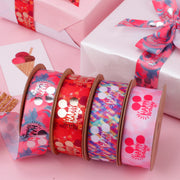 25mm Happy Birthday Printed Ribbon