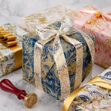 Glitter Marble Wrapping Paper Sheets - 1 Roll Contains 6 Sheets - 17.5 inch X 30 inch Per Sheet