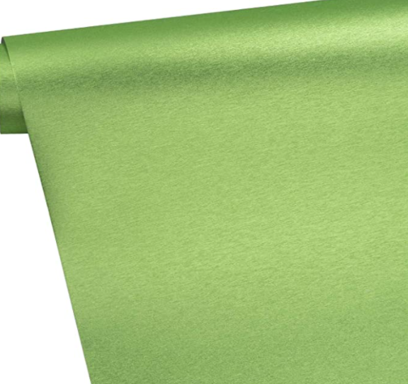 Metallic Brushed Wrapping Paper Roll - Green with Metallic Shine  30 inch x 33 feet