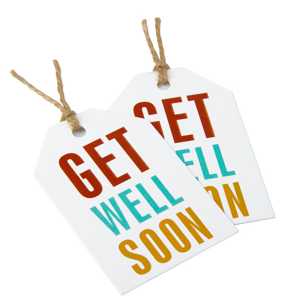 Get Well Soon Gift Tags 100 PCS with 100 Feet Natural Jute Twine