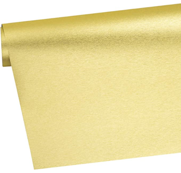 Brushed Metallic Wrapping Paper Roll - Gold with Metallic Shine