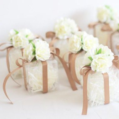 Collection of wedding gift box center piece displays