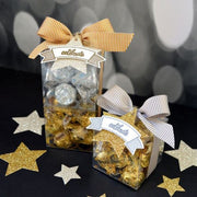 Gold and silver clear party favor gift box