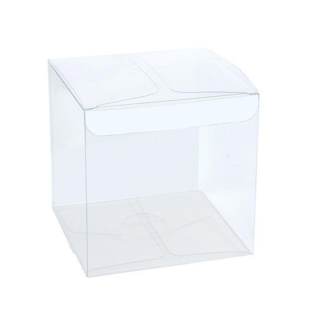 4 inch square clear gift box