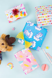 Unicorn Birthday Wrapping Paper - 4 Roll Pack