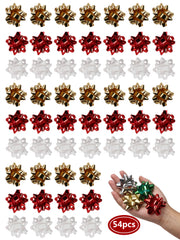 Red/Gold/White 54 pcs 2 inch Gift Bow Bundle
