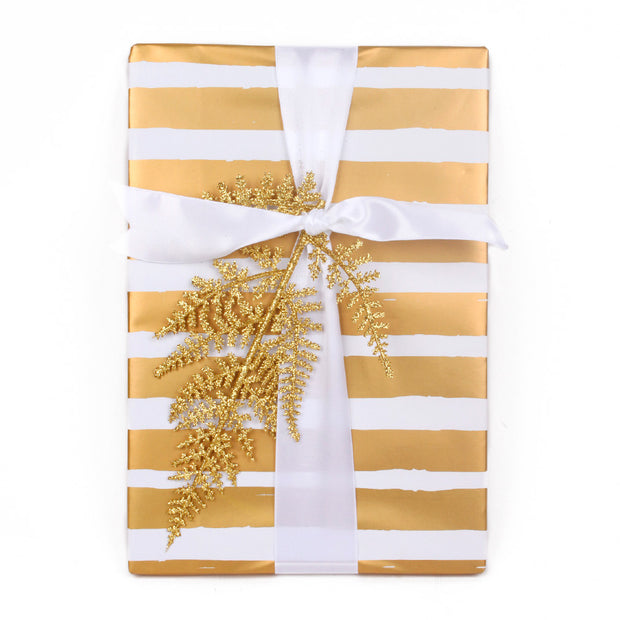 White/Gold Gift Wrapping Paper Roll Gold Collection - 3 Rolls
