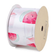 50 millimeter flamingo and watermelon printed satin ribbon