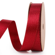 Red and gold metallic sparkle glitter ribbon