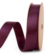 Deep purple and gold metallic sparkle glitter ribbon