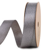 Gray and gold metallic sparkle glitter ribbon