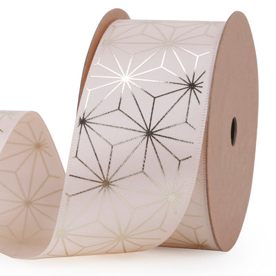 38 millimeter beige and gold geometric ribbon