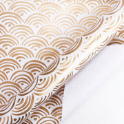 White and gold foil rainbow wrapping paper roll