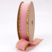 Quartz Gold Metallic Edge Grosgrain Ribbon